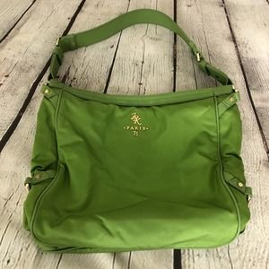 JPK Paris Designer Nylon Purse Green Shoulder Bag